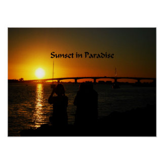 Sunrise and Sunset photos Poster