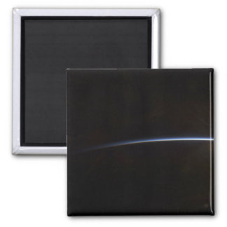 Sunrise as viewed in space square magnet