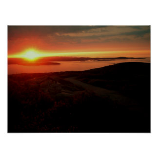 Sunrise at Acadia National Park, Cadillac Mountain Poster
