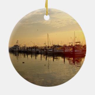 Sunrise at Atlantic Highlands New Jersey Ceramic Ornament