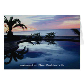 Sunrise at Casa Blanca Beachfront Villa Card