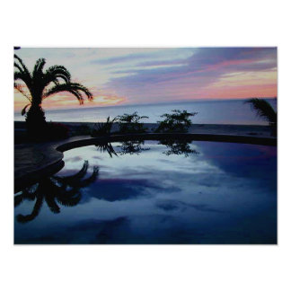 Sunrise at Casa Blanca Beachfront Villa Poster