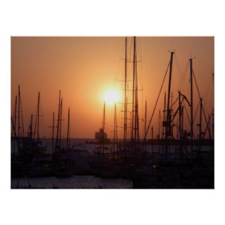 Sunrise at Crete Poster