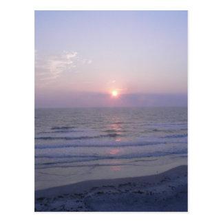 sunrise at daytona beach postcard