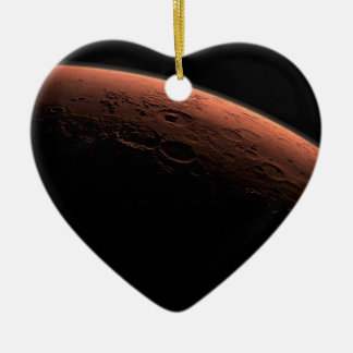 Sunrise at Gale Crater Planet Mars Ceramic Heart Ornament