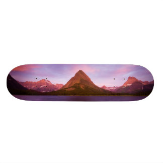 Sunrise at Glacier Skateboard Deck