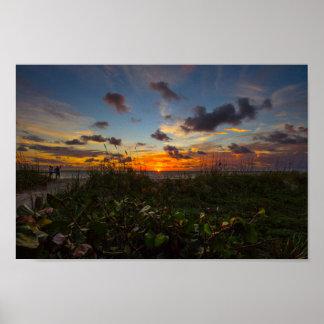Sunrise at Jetty Park, Fort Pierce, Florida Poster