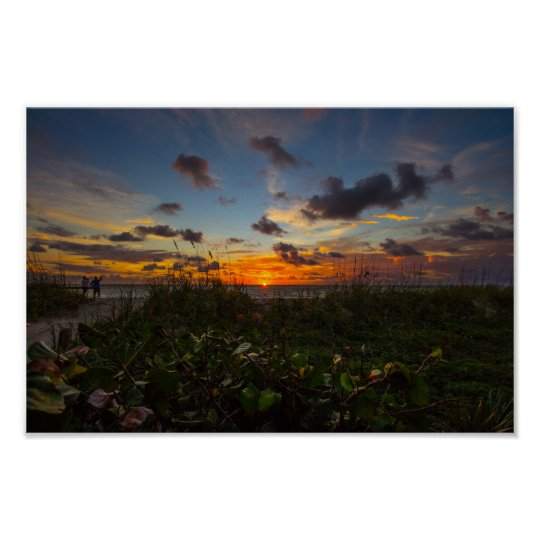 Sunrise at Jetty Park, Fort Pierce, Florida Poster
