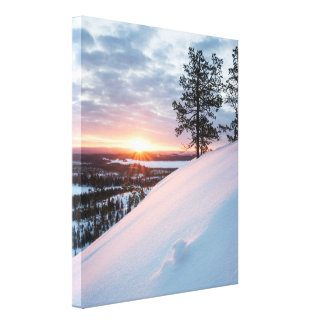 Sunrise at Konttainen Canvas Print