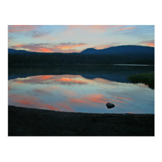 Sunrise at Little Lava Lake, Oregon Postcard