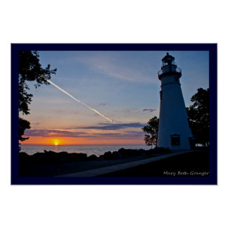 Sunrise at Marblehead Lighthouse Poster