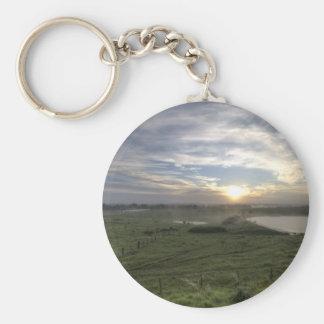Sunrise at Menangle Basic Round Button Keychain