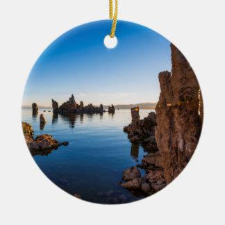 Sunrise at Mono lake, California Round Ceramic Ornament