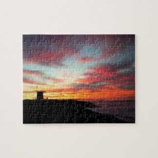 Sunrise at Newport Beach, CA Jigsaw Puzzle