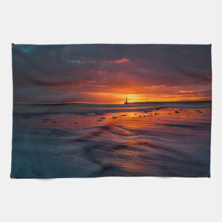 Sunrise at Roker Kitchen Towel
