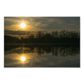 SUNRISE AT RUSH LAKE by Michelle Diehl Photo Print