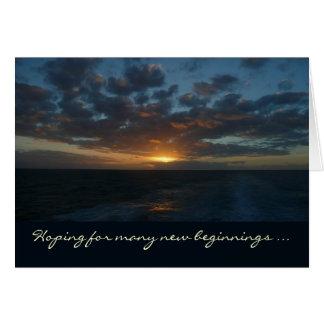 Sunrise at Sea Anniversary Card