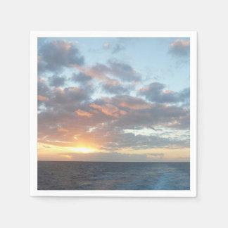Sunrise at Sea I Pastel Seascape Paper Napkin