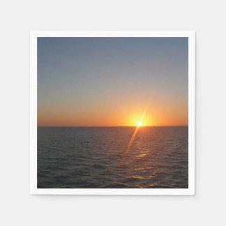 Sunrise at Sea III Ocean Horizon Seascape Paper Napkin