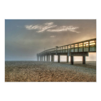Sunrise at St. Augustine Beach Pier Photo Print