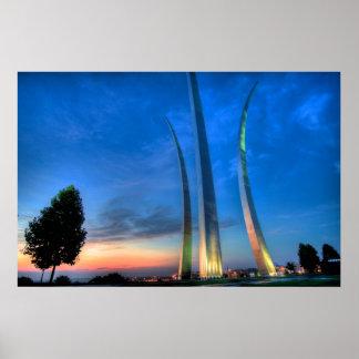 Sunrise at the Air Force Memorial Poster
