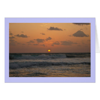 Sunrise at the Beach Card