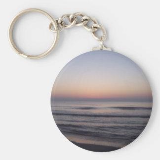 Sunrise at the beach key chain