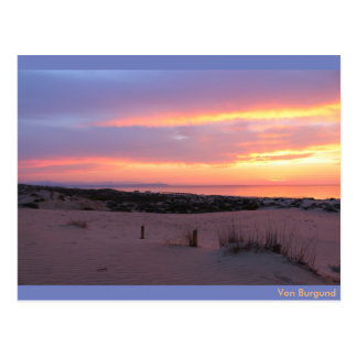 Sunrise at the conditions of Guardamar, Spain Postcard