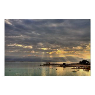 Sunrise at the Dead Sea Israel Photo Poster