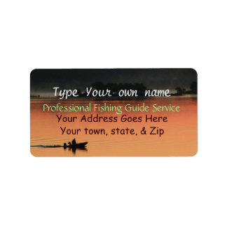 Sunrise at the Lake Labels-customize