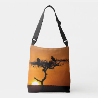 Sunrise at the Masai Mara, Kenya Crossbody Bag