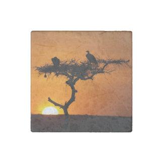 Sunrise at the Masai Mara, Kenya Stone Magnets