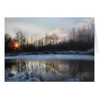 Sunrise at the Pond Card