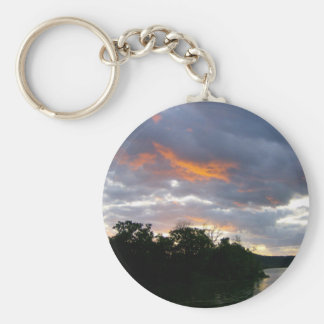 Sunrise at the River Basic Round Button Keychain