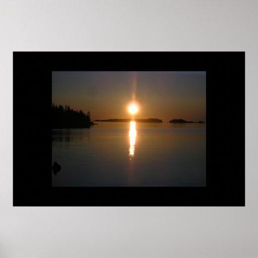 Sunrise at Three Mile Poster