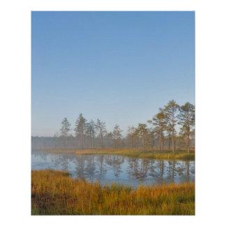 Sunrise at Viru Bog, Estonia Perfect Poster