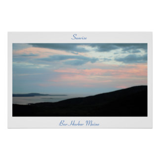 Sunrise Bar Harbor Maine Poster