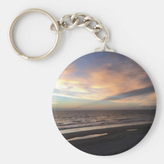 Sunrise Basic Round Button Keychain