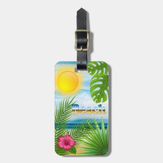 Sunrise Beach Design Luggage Tag