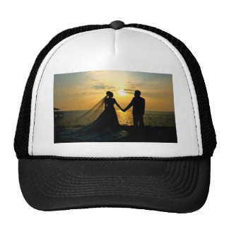 Sunrise Beach Wedding Trucker Hats