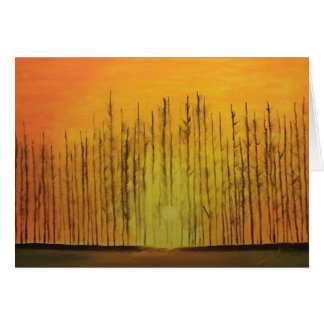 Sunrise Behind the Trees Card