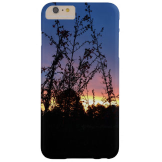 Sunrise Between Wildflower Silhouette Stalks Barely There iPhone 6 Plus Case