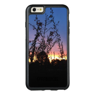 Sunrise Between Wildflower Silhouette Stalks OtterBox iPhone 6/6s Plus Case