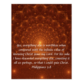 Sunrise bible verse Philippians 3:8 poster