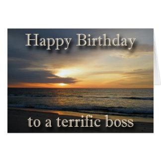 Sunrise Birthday Boss Greeting Card