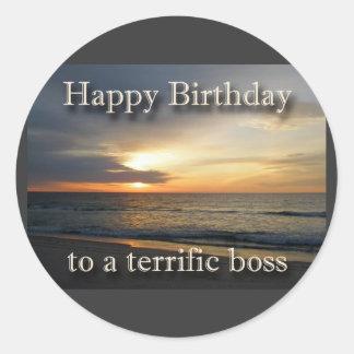 Sunrise Birthday Boss Sticker