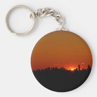 Sunrise Boston Morning Keychain
