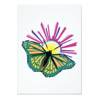 sunrise butterfly design invites