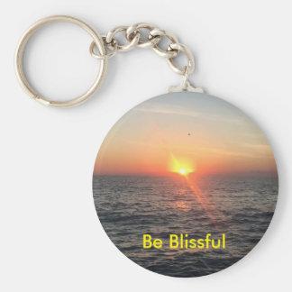 Sunrise Button Keychain - small