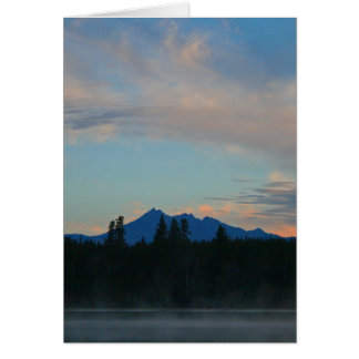 Sunrise Cascade Mountains Oregon Card